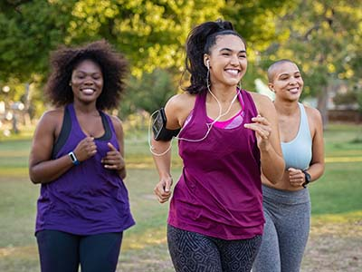 New Year, New You Blog - Women running in park