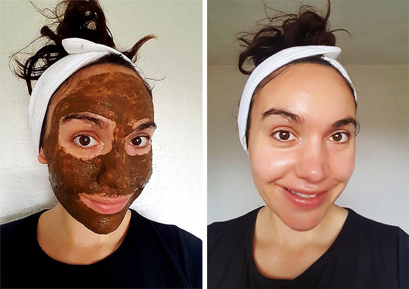 Sea Kelp Face Mask - Before & After
